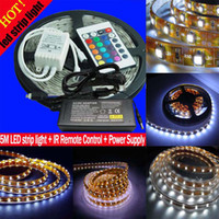Wholesale Waterproof M cm SMD RGB LED IP55 Light Strips LED IR Remote controller power supply