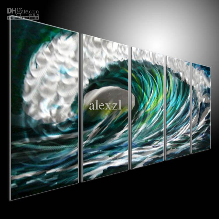 Metal wall art 100 handmade painting sculpture indoor outdoor decor by alexzl 201207a10 online - Painting exterior metal collection ...