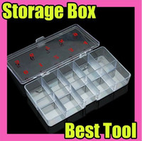 Wholesale Nail Art Flase Tips Case Empty Box Clear Color Retail Package Nails Care Tool