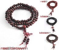 Wholesale 16 Tibet Buddhism Rosary Beaded Necklace Bracelet Bodhi Mala Sandalwood Necklace