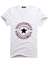 Mens Short Sleeve Tee Shirts Male White t shirts Mixed Order...