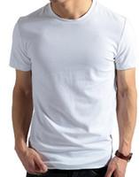 Free Shipping Mens Short Sleeve T- shirts Male Cotton V- neck ...