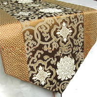 many color table runner - Brown Satin Table Runners For Weddings Decorate Free