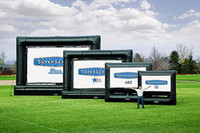 Wholesale ohlees professional factory design custom made Fast custom new Inflatable outdoor movie screen by express