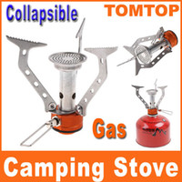 Wholesale Sliver Portable Stainless Steel Stove mini stove for Camping Picnic Cookout Burner Cookware H8147