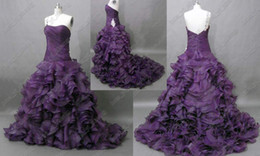 2017 Quinceanera Debutante Dresses One Shoulder Beaded Pleated Layered Organza Gown Actual Real Image Party Gowns