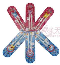 Wholesale children intelligent chopsticks lovely portable baby infant learn training tableware