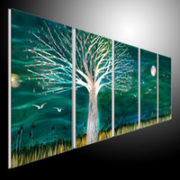 One Panel More Panel Oil Painting Metal Wall Art Abstract Modern Sculpture Painting Handmade 5 Panels Melted Gold 201207a17