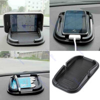 Wholesale Soft Car Auto Skidproof Pad Mat Holder Stand For iPhone G S Cellphone Black