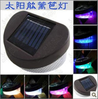 Wholesale Six kinds of Modes of solar LED fence light wall lamp wall lamp solar garden lights