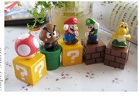Wholesale 100pcs Super Mario Bros or marioKart mario cart game people high quality with retail box