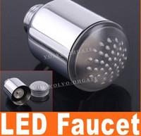 Wholesale new Copper Glow Temperature Sensor LED Faucet Tap RGB GA03