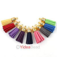 Wholesale 100pcs Handmade Leather Tassel Charms Cell Mobile Phone Straps Accessories