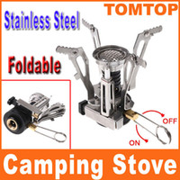 Wholesale Mini Electronic Strike Fire Ignitor Stove Gas Powered Camping Picnic stove Cookout Burner H8335