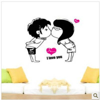 Wholesale 200PCS Cheap Stickers On Car Wall I LOVE YOU Funny personalised wall stickers China