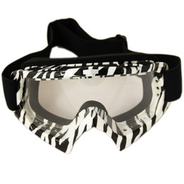 Motorcycle motocross goggles Motorcycle ATV BMX Bike Motocross Dirt Flexible Zebra-Stripe Goggles sungleass