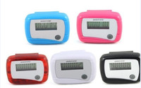 Wholesale Digital Pocket LCD Pedometer Mini Single Function Pedometer Step Counter drop shipping