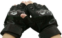 Wholesale 5pcs Mens Military Combat Fingerless Sports M Gloves Black