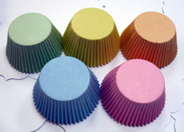 2017 lovely 4.5inch cute 2000pcs green pink yellow brown blue mix color cakecup paper cup muffin cases for party