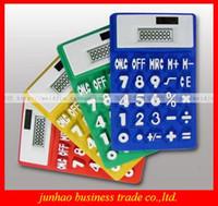 Wholesale Colorful Electronic And Solar Energy Silicon Calculator Portability Digital Caculator Environmental