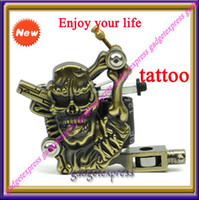 Wholesale Skull Heads Wrap Coil Dual coiled Tattoo Machine Liner Shader Copper