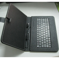 Other Allwinner Yes 50pcs 9 inch leather Flip Stand keyboard case cases for tablet pc Micro USB port for Allwinner A13