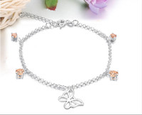 Wholesale Silver Beaded Anklets Fashion Jewelry Mixed SF