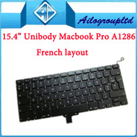 Wholesale 10pcs For quot Unibody Macbook pro A1286 keyboard French layout