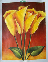 Wholesale Oil painting China oil painting flower oil painting hand panited flower paintings