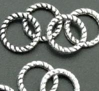 jump in - In Stock MIC Item Tibet Silver Twisted Closed Jump Rings mm