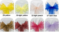 Cheap 2012 New Fashion Wedding Organza Chair Cover Sashes Bow Sash Party Decorations