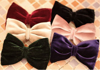 Wholesale 2012 new design hair pin modern retro style velvet bow knot hair pin