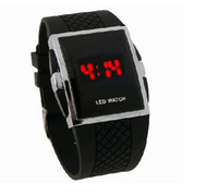 Wholesale Red LED Men s Digital Electronic LED Watch Red Light Black