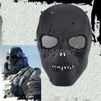 1 del cráneo del ejército de esqueletos porción de las PC de Airsoft Paintball cara del juego pistola BB Proteger completa Máscara Segura