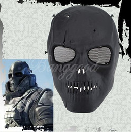 Wholesale 1 Skull Skeleton Army Airsoft Paintball BB Gun Full Face Game Protect Safe Mask