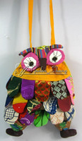 Wholesale Handmade Patchwork Owl Bag Purse Linen Wallet Popular Cute Fashion Gift