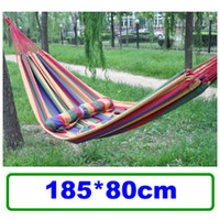 Wholesale Hot Sale Canvas Single Camping Hammock Hang Sleeping Beds for Camping Outdoor Supplies SP57B