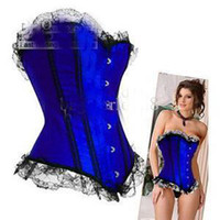 Wholesale Sexy corset shaper lace bow corset lingerie white black blue red shapers underwear