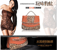 2012 Fashion Animal Print 2Colors option PU Shopping Handbag...