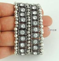 Wholesale Multi row fashion bangles two row diamond bracelet designer jewelry on sale
