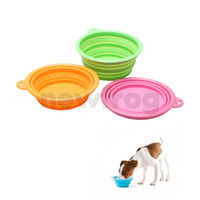 Wholesale New Arrivals Dog Feeding Bowl Portable Pets Foldable Bowl Camping Water Food Travel Bowl