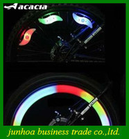Wholesale Popular Motorcycle Wheels Silicone Lamp Bike LED Lights Wire Spokes Light Gifts Fast