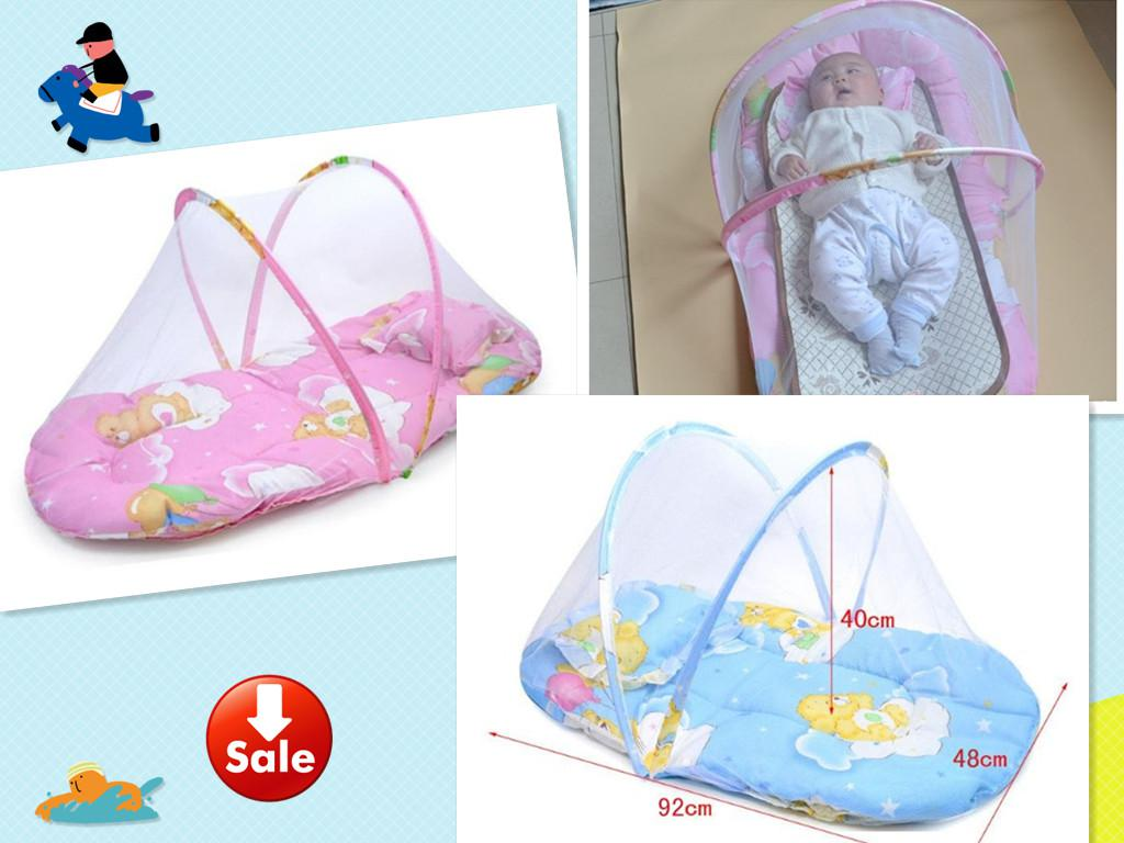 Baby bed net - Free Shipping Foldable Baby Mosquito Net Baby Safety Room With Pad And Pillow