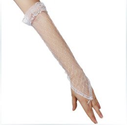 Wholesale Princess Bridal Gloves Lacework Wedding Gloves No Fingers