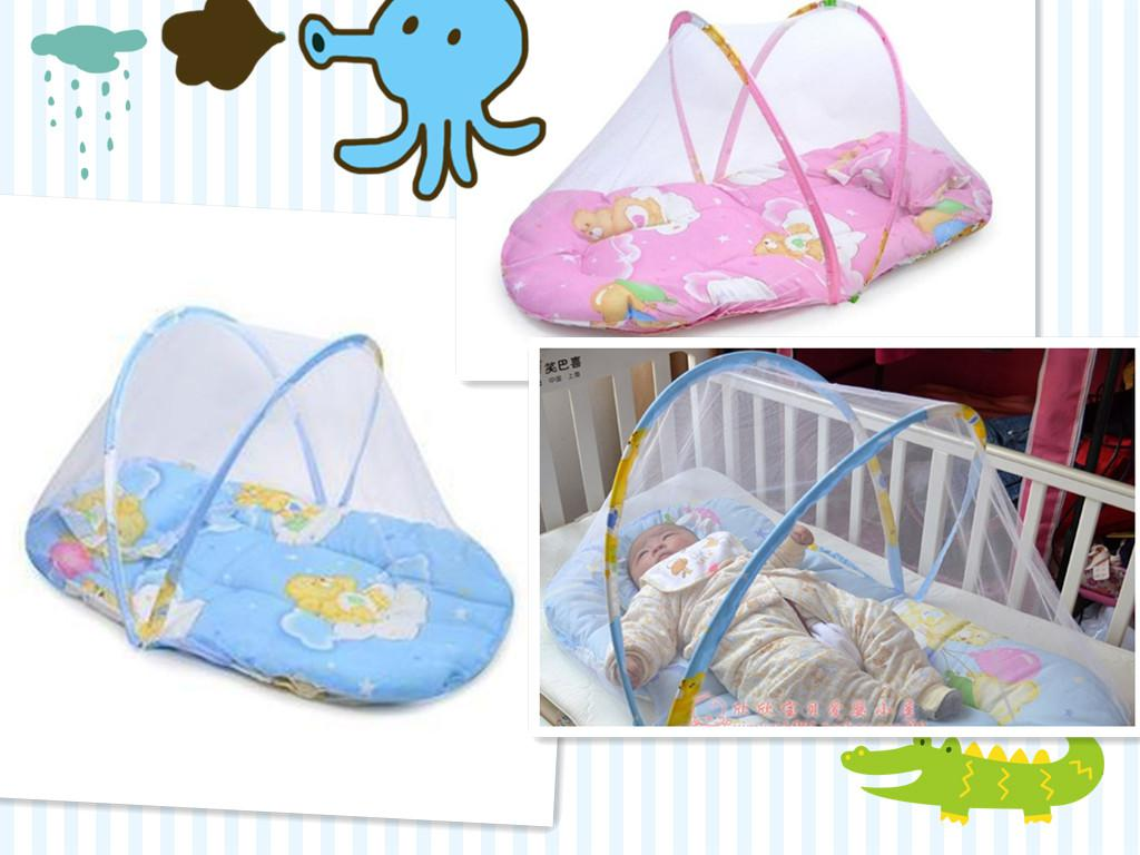 Baby bed net - Baby Infant Foldable Playpen Shape Bed Canopy Mosquito Net Netting Mesh Tent Easy To Carry
