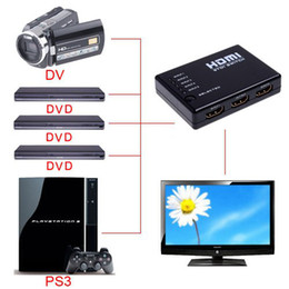 Wholesale Mini Port P Video HDMI Switch Switcher HDMI Splitter with IR Remote splitter box
