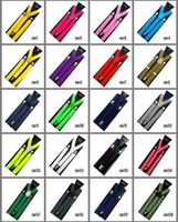 Wholesale Clip on Solid Braces Suspenders candy color suspenders straps clip