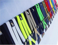 Wholesale Free Shiping Unisex Suspenders Women Mens Clip on Braces Elastic Y back Suspenders