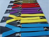 Wholesale women and men s elastic Solid candy color suspender lips Braces width cm