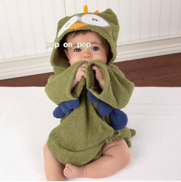 boy's owl robes receiving blankets bath towel baby blanket bathrobe amice gown bath turban SH841